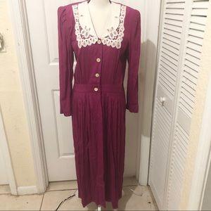 Karin Stevens Vintage Purple Maxi Dress